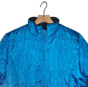 L.L.Bean Wmns Puffer Coat Fleece Lined Blue M